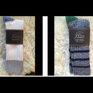 New J. Crew Camp socks Bundle 1 white & 1 stripe